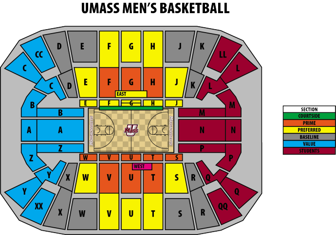 Seating Charts Mullins Center